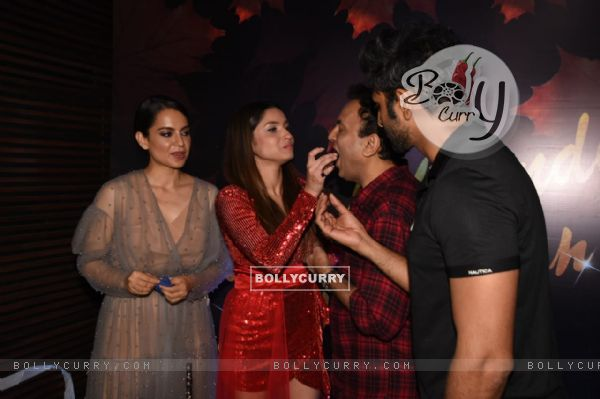 Kangana Ranaut, Vaibhav Tatwawadi with Ankita at Ankita Lokhande's birthday bash