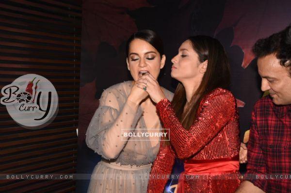 Kangana Ranaut and Ankita at Ankita Lokhande's birthday bash