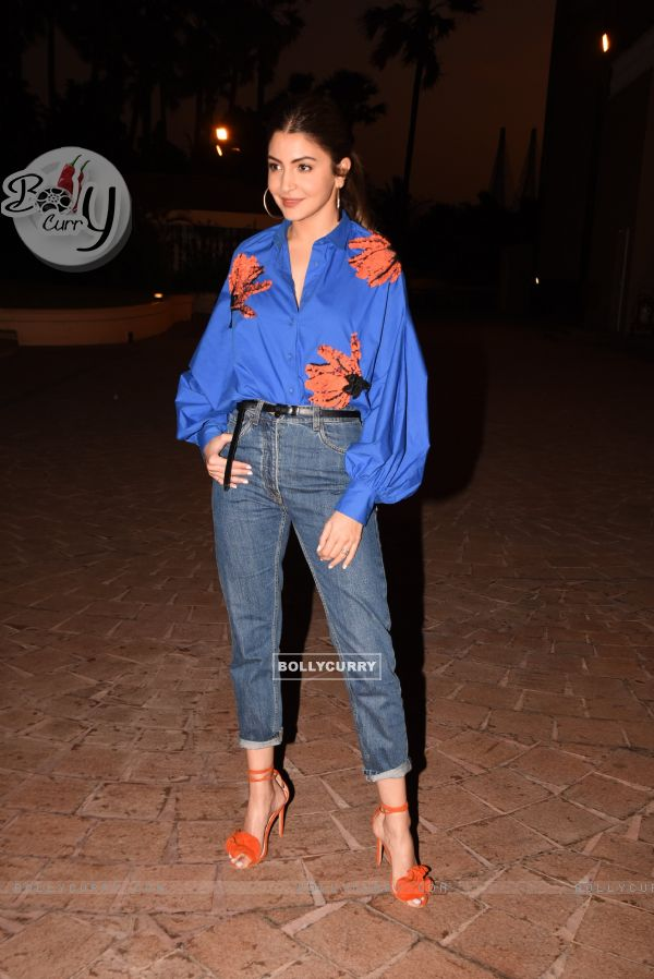Anushka Sharma spotted during Zero's Promotions