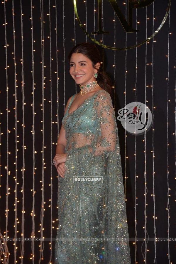 Anushka Sharma at Priyanka Chopra and Nick Jonas Wedding Reception, Mumbai