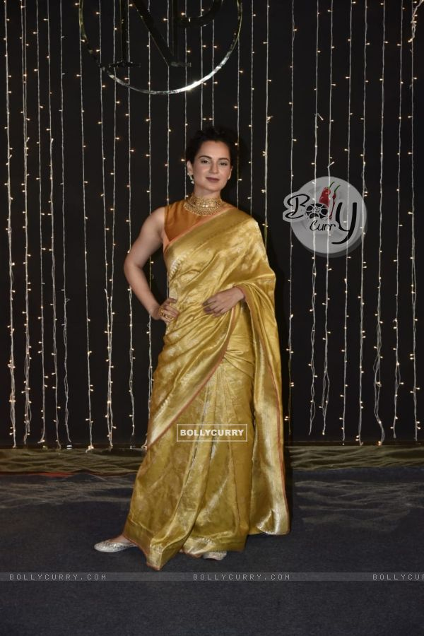 Kangana Ranaut at Priyanka Chopra and Nick Jonas Wedding Reception, Mumbai