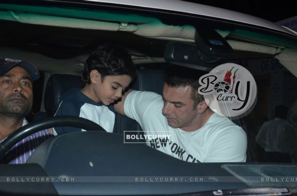 Sohail Khan snapped with his son at Ambani School