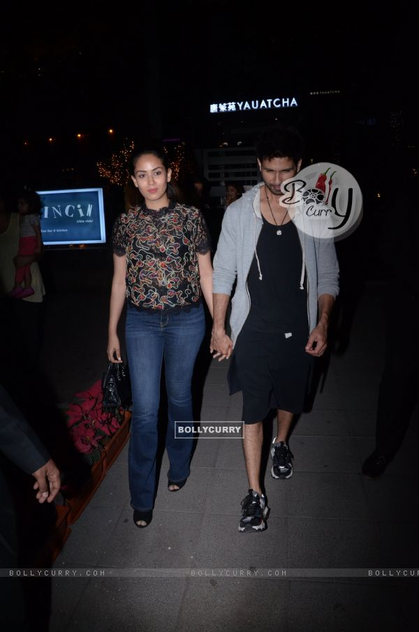 Shahid Kapoor and wife Mira Rajput Kapoor spotted around the town