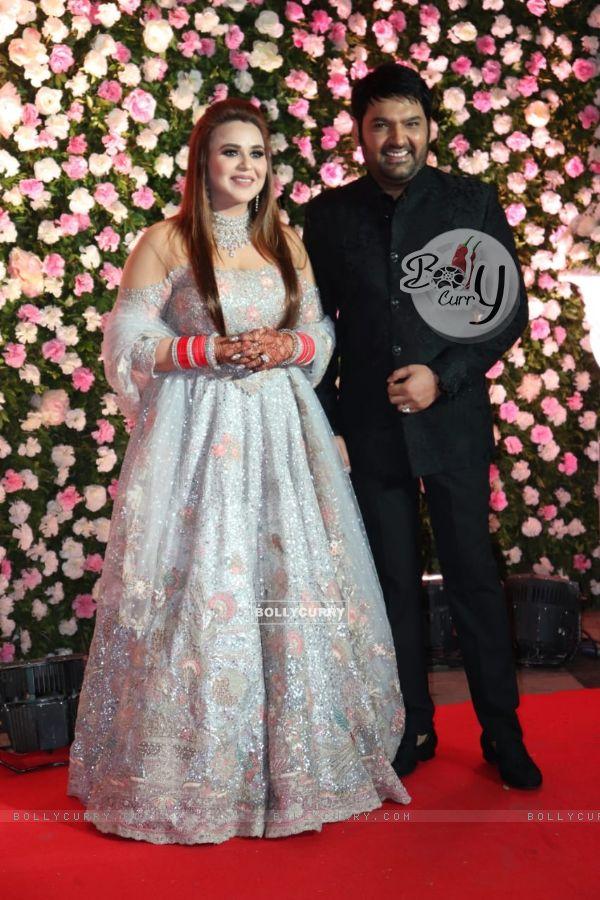 Kapil Sharma and Ginni Chatrath at their Live Reception, Mumbai