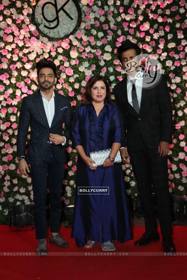 Sonu Sood, Farah Khan, Aparshakti Khurrana at Kapil Sharma and Ginni Chatrath's Reception, Mumbai