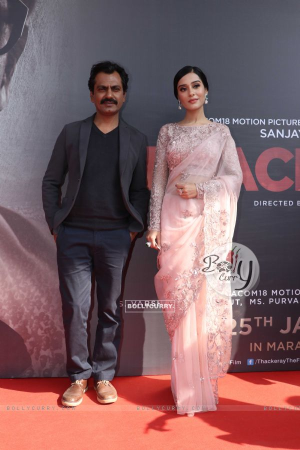 Nawazuddin Sidiqui and Amrita Rao at Thackeray movie trailer launch
