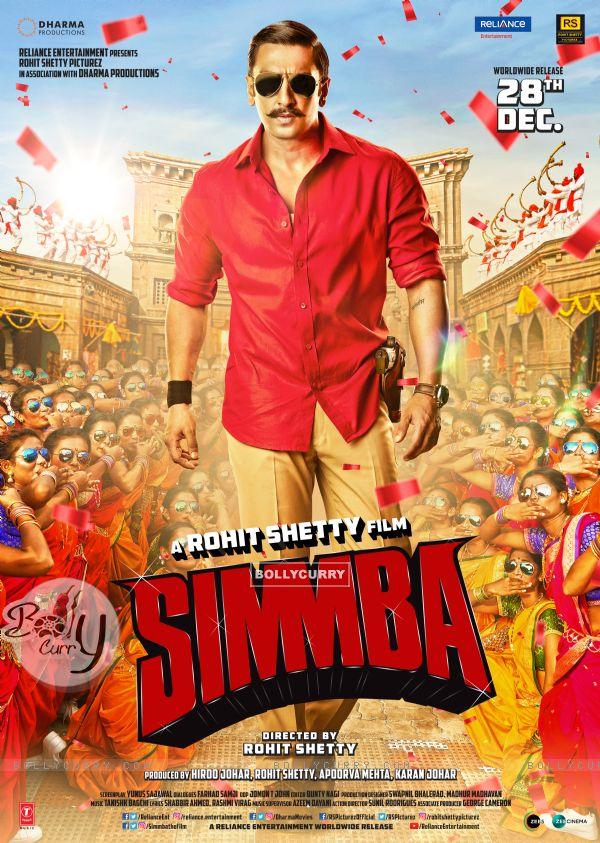 Ranveer Singh aka ACP Sangram 'Simmba' Bhalerao on Simmba poster (442768)