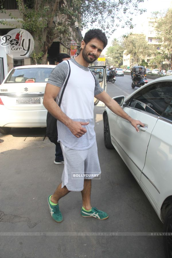 Shahid Kapoor spotted around the town