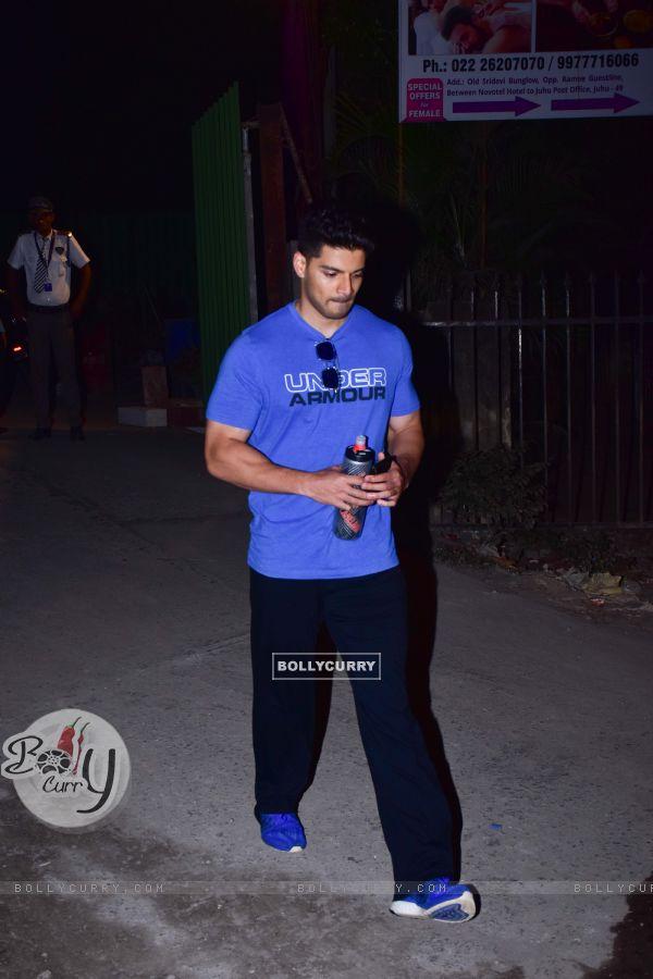 Suraj Pancholi spotted around the town