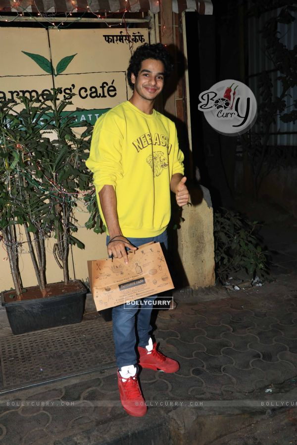 Ishaan Khattar spotted around the town