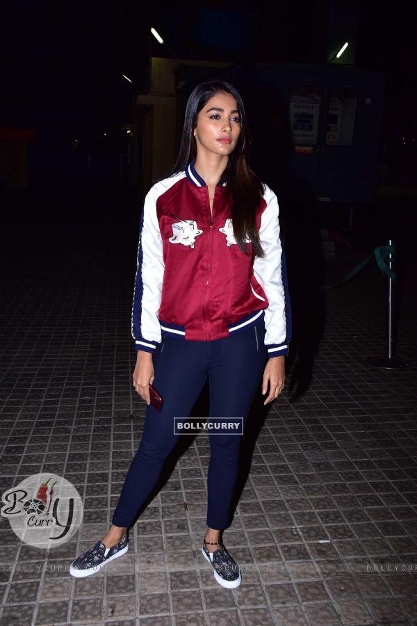 Pooja Hegde snapped at URI screening
