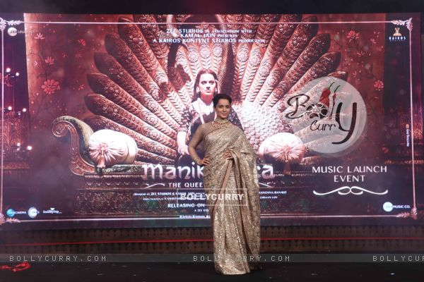 Kangana Ranaut spotted at Manikarnika music launch