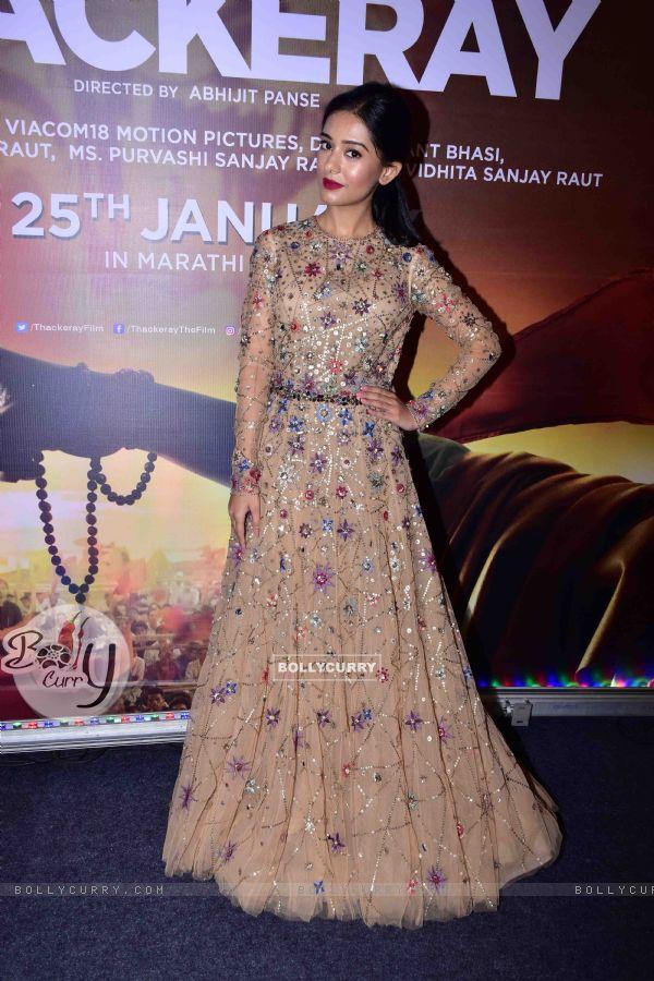Amrita Rao snapped at 'Thackeray' Music Launch