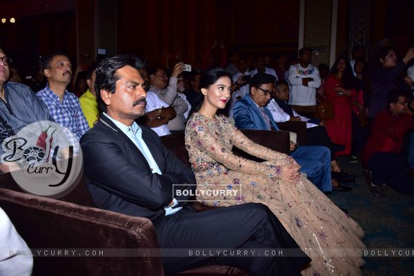 Amrita Rao and Nawazuddin Siddiqui snapped at 'Thackeray' Music Launch