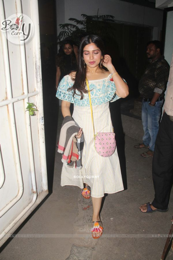 Bhumi Pednekar snapped during the screening of 'URI'