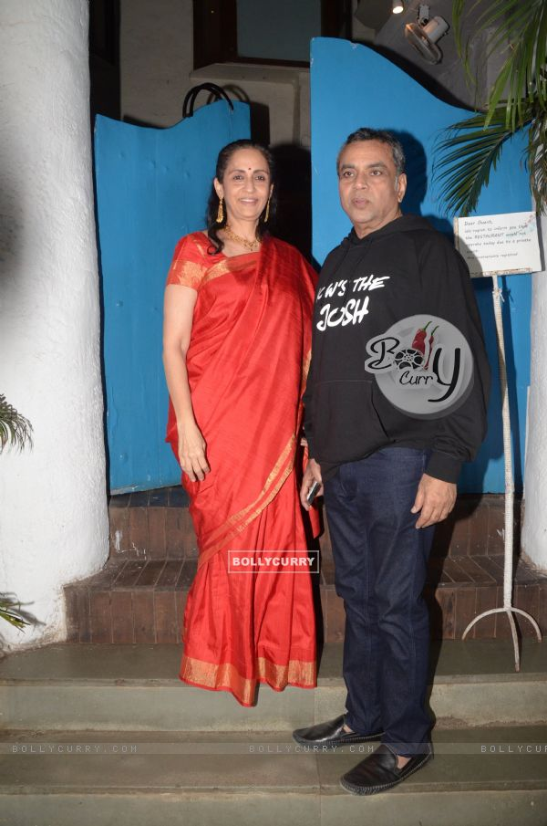 Paresh Rawal at wife celebrate URI's success (443362)