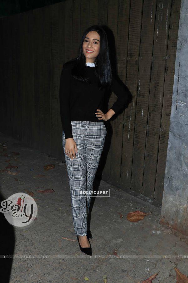Amrita Rao spotted at Thackeray movie screening