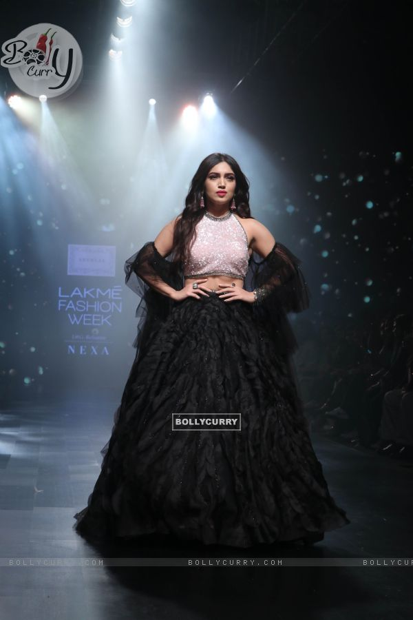 Bhumi Pednekar snapped at Lakme Fashion Week