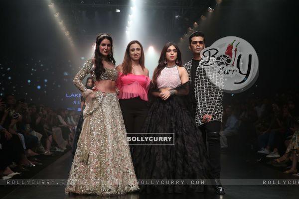 Isabelle Kaif, Bhumi Pednekar, Karan Johar snapped at Lakme Fashion Week