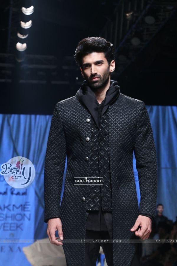Aditya Roy Kapur snapped at Lakme Fashion Week