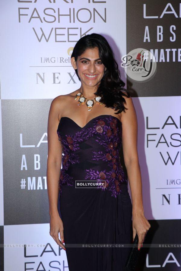 Kubra Sait snapped at Lakme Fashion Week
