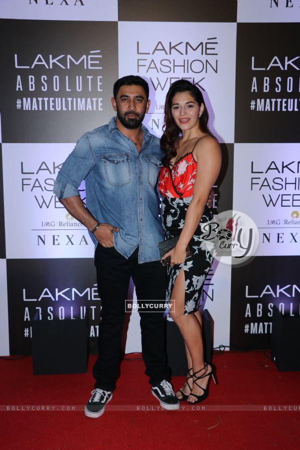 Amit Sadh snapped at Lakme Fashion Week