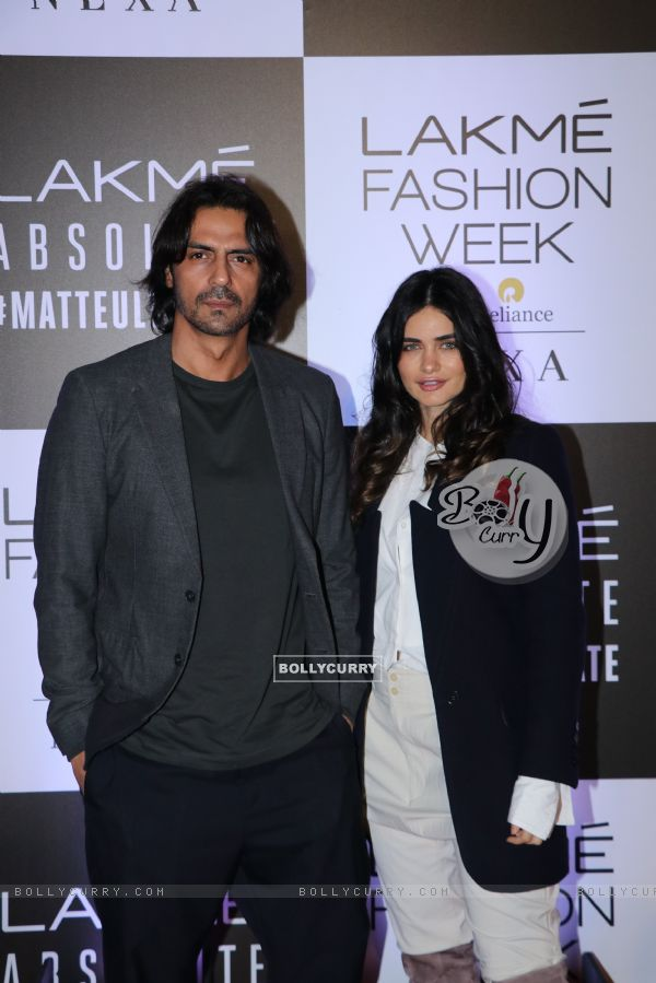 Arjun Rampal snapped at Lakme Fashion Week