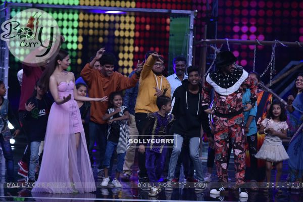 Ranveer-Alia on the sets of Super Dancer