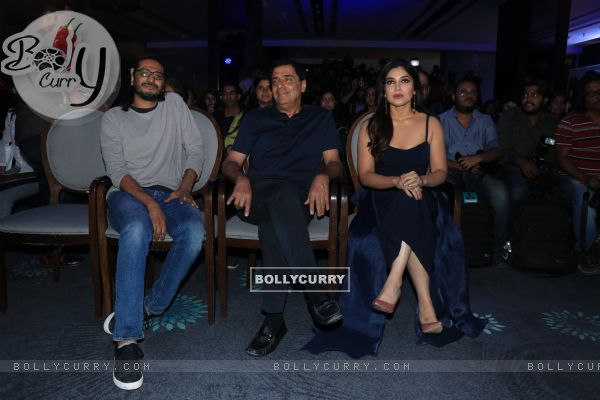 Cast of Sonchiriya at the trailer launch