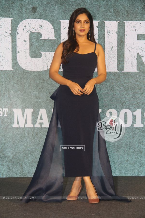 Bhumi Pednekar of Sonchiriya at the trailer launch