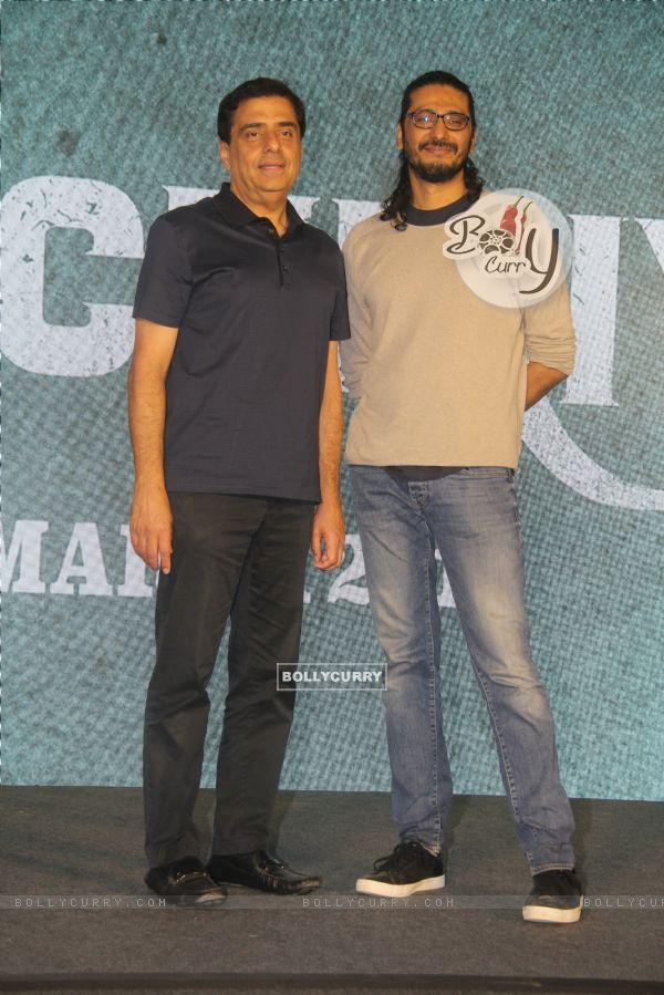 Ronnie Screwvala and Abhishek Chaubey of Sonchiriya at the trailer launch
