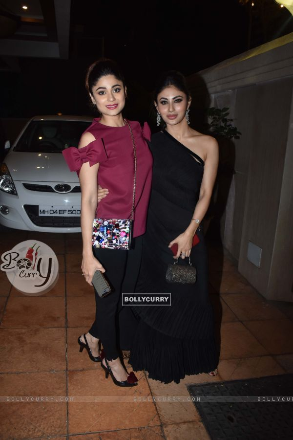 Shamita Shetty and Mouni Roy at Ekta Kapoor baby's naming ceremony