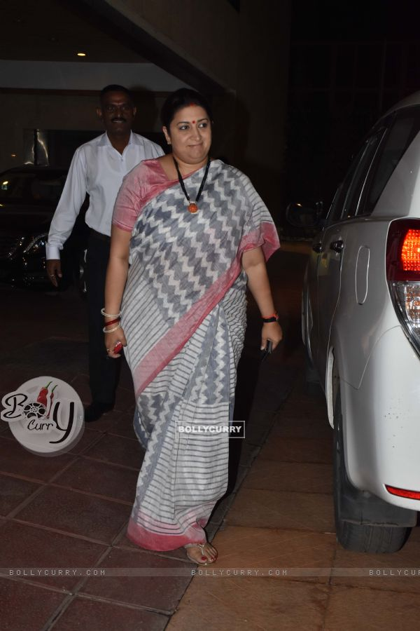 Smriti Irani at Ekta Kapoor baby's naming ceremony