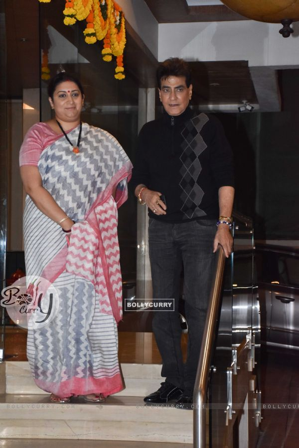 Smriti Irani and Jeetendra at Ekta Kapoor baby's naming ceremony