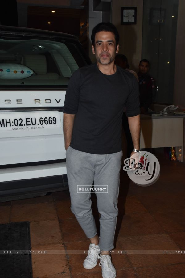 Tusshar Kapoor at Ekta Kapoor baby's naming ceremony