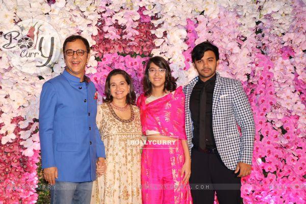 Vidhu Vinod Chopra and family at Ambani Wedding!