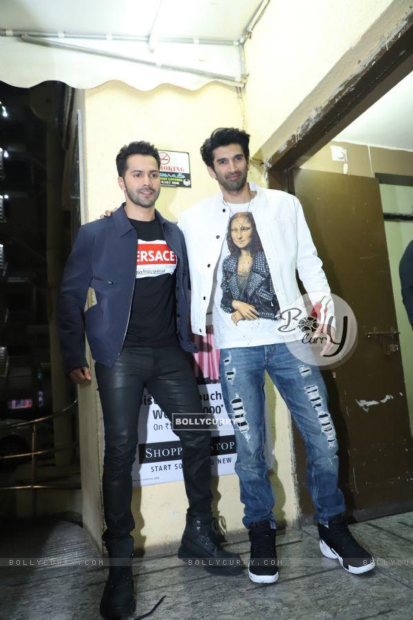 Varun Dhawan and Aditya Roy Kapur attend the special screening of Kalank