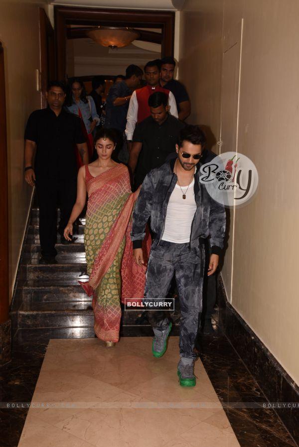Alia Bhatt and Varun Dhawan at the promotions of Kalank!