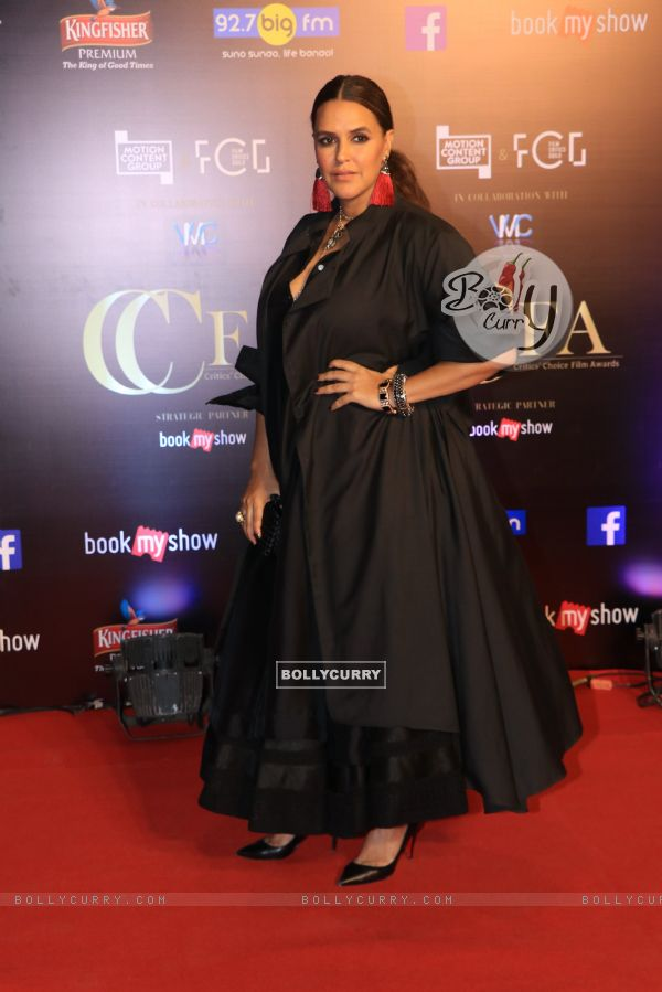 Bollywood celebrity Neha Dhupia at Critics Choice Film Awards!