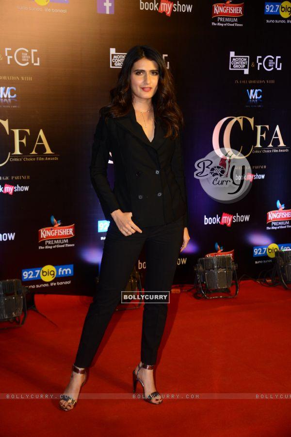 Bollywood actress Fatima Sana Shaikh snapped at Critics Choice Film Awards!