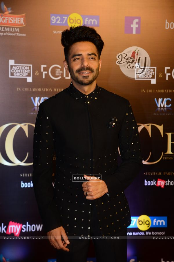 Bollywood actor Aparshakti Khurrana snapped at Critics Choice Film Awards!