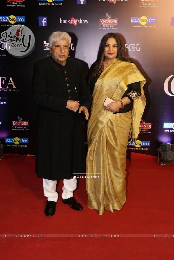 Javed Akhtar with Shabana Azmi snapped at Critics Choice Film Awards!