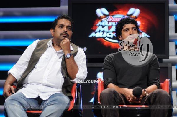 Farhan Akhtar with Shankar Mahadevan