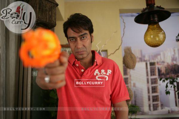 Ajay Devgan looking angry