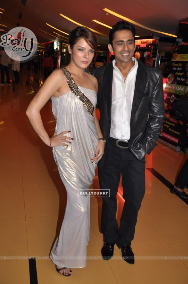 Udita and Anuj in music launch party of Chase movie