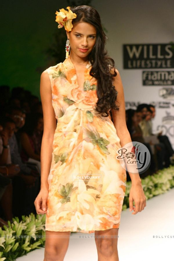 Bollycurry A Model On The Ramp During The Ashima And Leena Show At The Wills Lifestyle India
