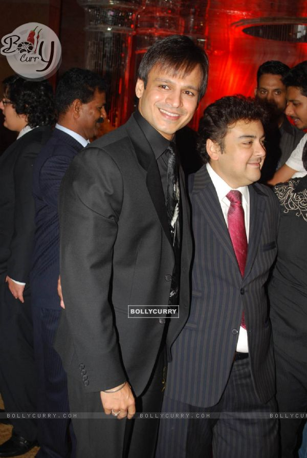 Vivek Oberoi And Adnan Sami At The Shilpa Shettys Wedding