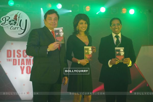 Priyanka Chopra and Rishi Kapoor at the launch Arindam Chaudhuri