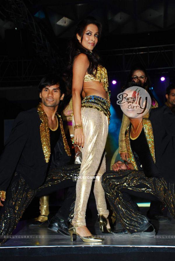 Mallaika Arora Khan with top models at Achala Sachdev''s Uzuri Jewels launch in Hyatt Regency