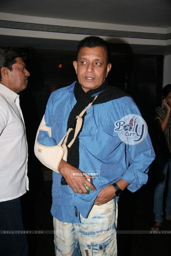 "Bollywood actor Mithun Chakraborty at the screening of ""Veer"" (84208)"